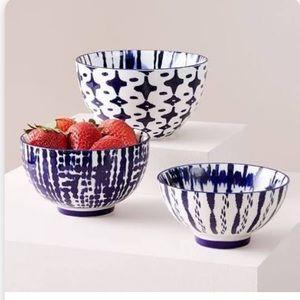 Trio of west elm bowls